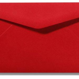Envelop gegomd pioenrood 22x11 cm